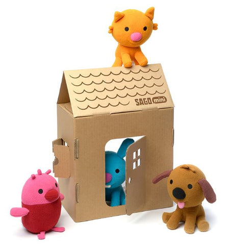 plush gift set portable house
