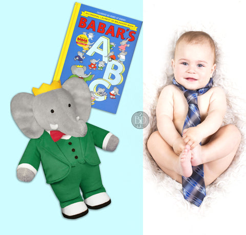 baby picture book and plush