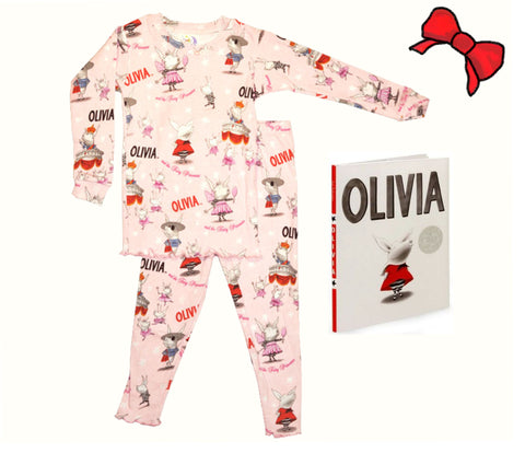 """Olivia the Piglet"": Pajamas & Book"