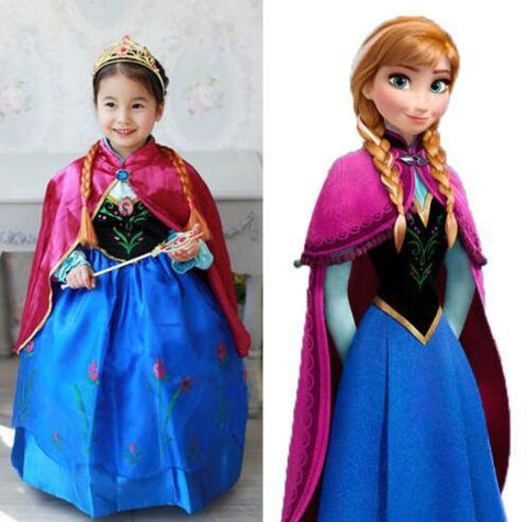 "Age: 5-8 ""Frozen Anna Princess"" Dress"