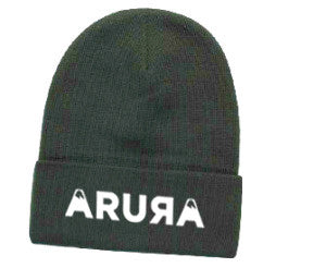 "Arura Classic Logo 3D Puff Embroidery Cotton Blend 12"" Knit Beanie"