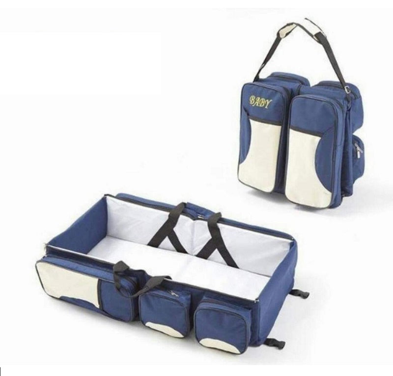 2-in-1 Baby Travel Bag - Blue