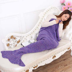 Mermaid Blanket - Purple