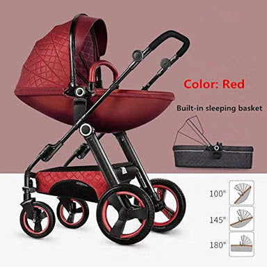 Belecoo Luxury  2-in-1 Eggshell Travel System - Red