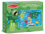 World Map Floor Puzzle (33 Piece)