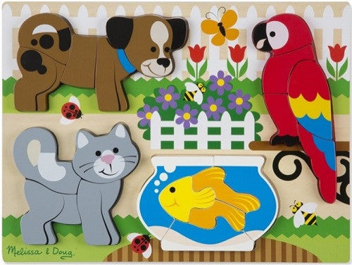 Chunky Wooden Jigsaw Puzzle - Pets (Age 2 Years+)