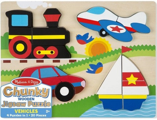 Chunky Wooden Jigsaw Puzzle - Vehicles (Age 2 Years+)