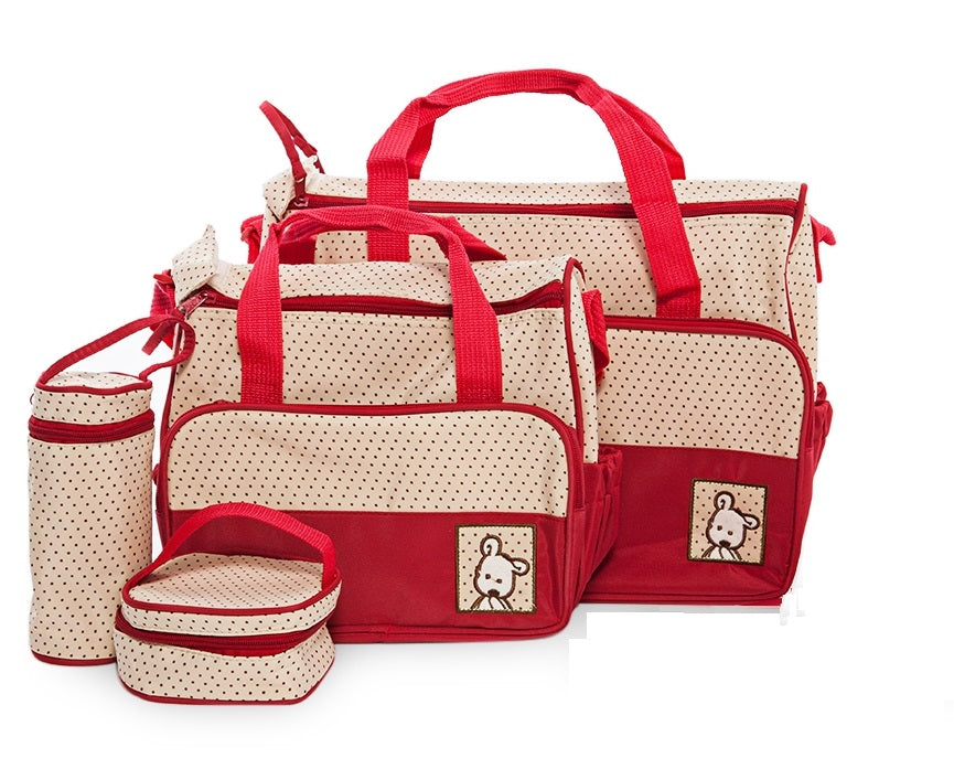 Multi Function Baby Bag Set - Red