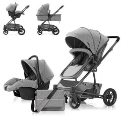 BabyBlue Luxury Travel System - Grey Series