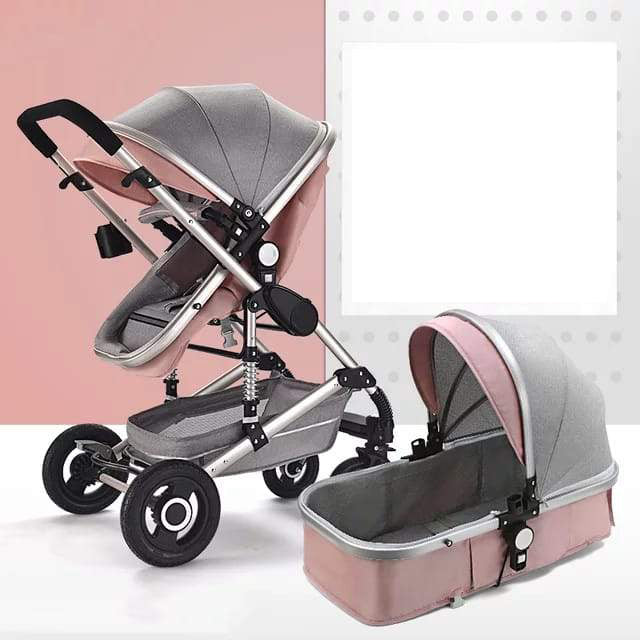 Belecoo Luxury Stroller - Pink (STROLLER ONLY)