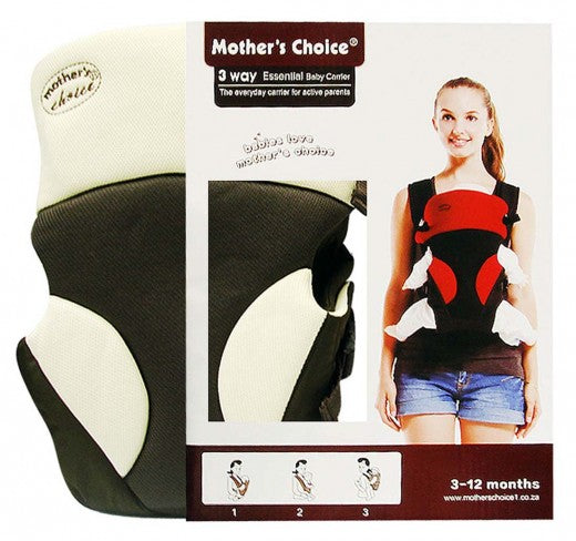 3 Way Essential Baby Carrier - Brown