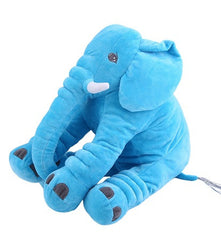 Elephant Baby Positioning Pillow Blue Plush