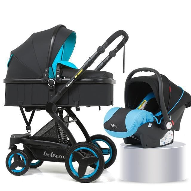 Belecoo X6 Oxford Baby Stroller - Blue