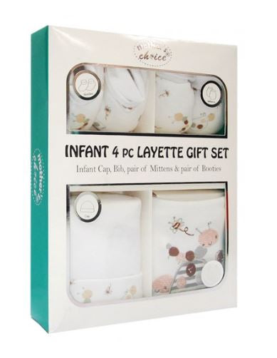 Infant 4 Piece Layette Gift Set - Bugs
