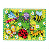 Extra-Thick Wooden Puzzle Insects (Age 18 Months+)