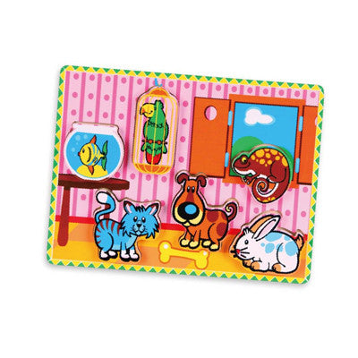 Extra-Thick Wooden Puzzle - Pets (Age 18 Months+)
