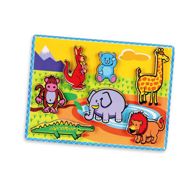 Extra -Thick Wooden Puzzle - Wild Animals  (Age 18 Months+)