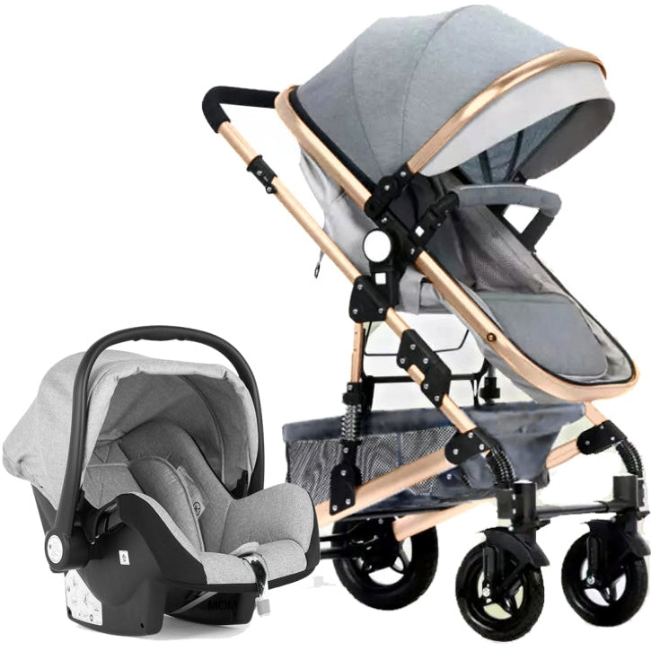 Belecoo 530 3-in-1 Travel System - Grey