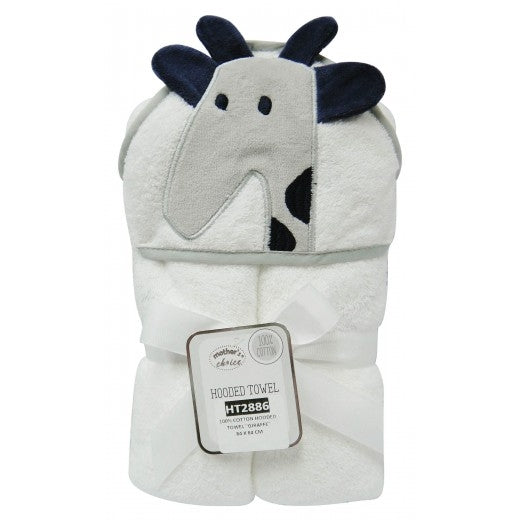 100% Cotton Hooded Towel - Giraffee