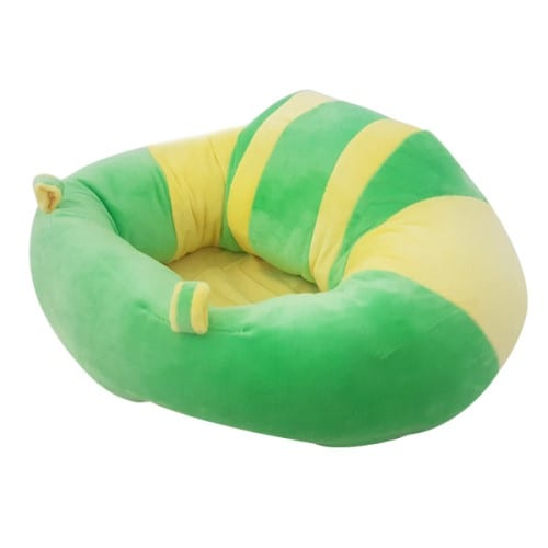 Baby Plush Chair - Green/Yellow