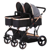 Yibaolai Double Side Twin Stroller - Grey