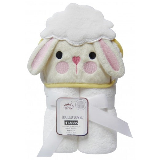 100% Cotton Hooded Towel - Bunny