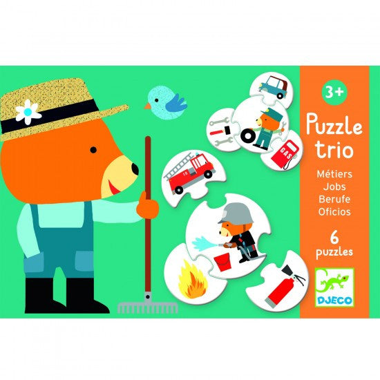 Puzzle Trio - Jobs  (Age 3 Years+)