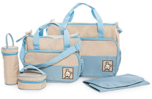 Multi Function Baby Bag Set - Light Blue