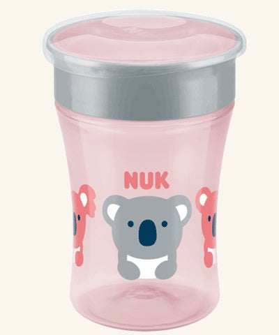NUK - Magic Cup 230ml with drinking rim - Pink