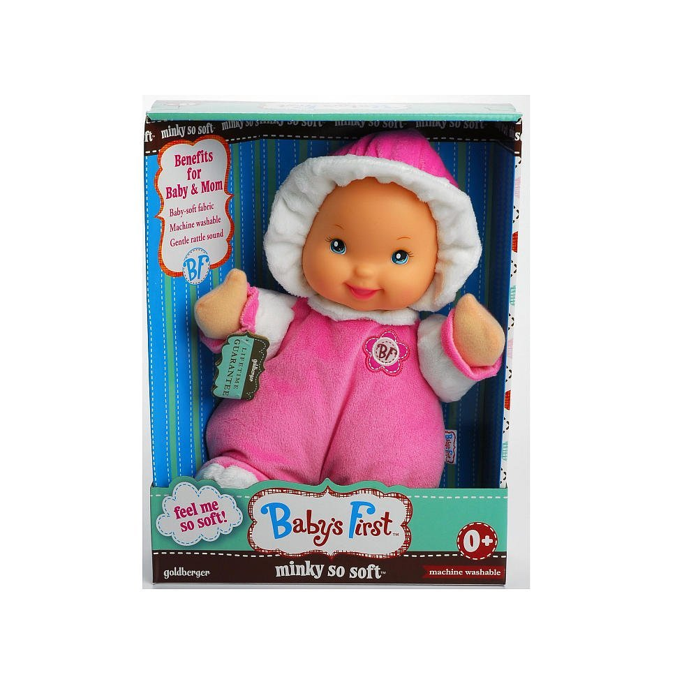 Baby's First Doll Minky So Soft - Pink