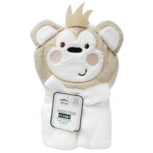 100% Cotton Hooded Towel - Monkey