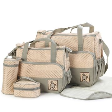 Multi Function Baby Bag Set - Khaki
