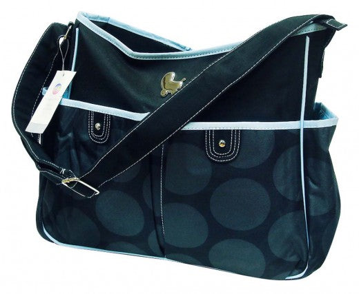 Mothers Choice Diaper Bag & Changing Mat - Black Circle