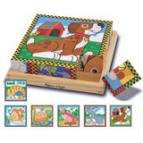 46. Wooden Cube Puzzle - Pets (Age 3 Years+)