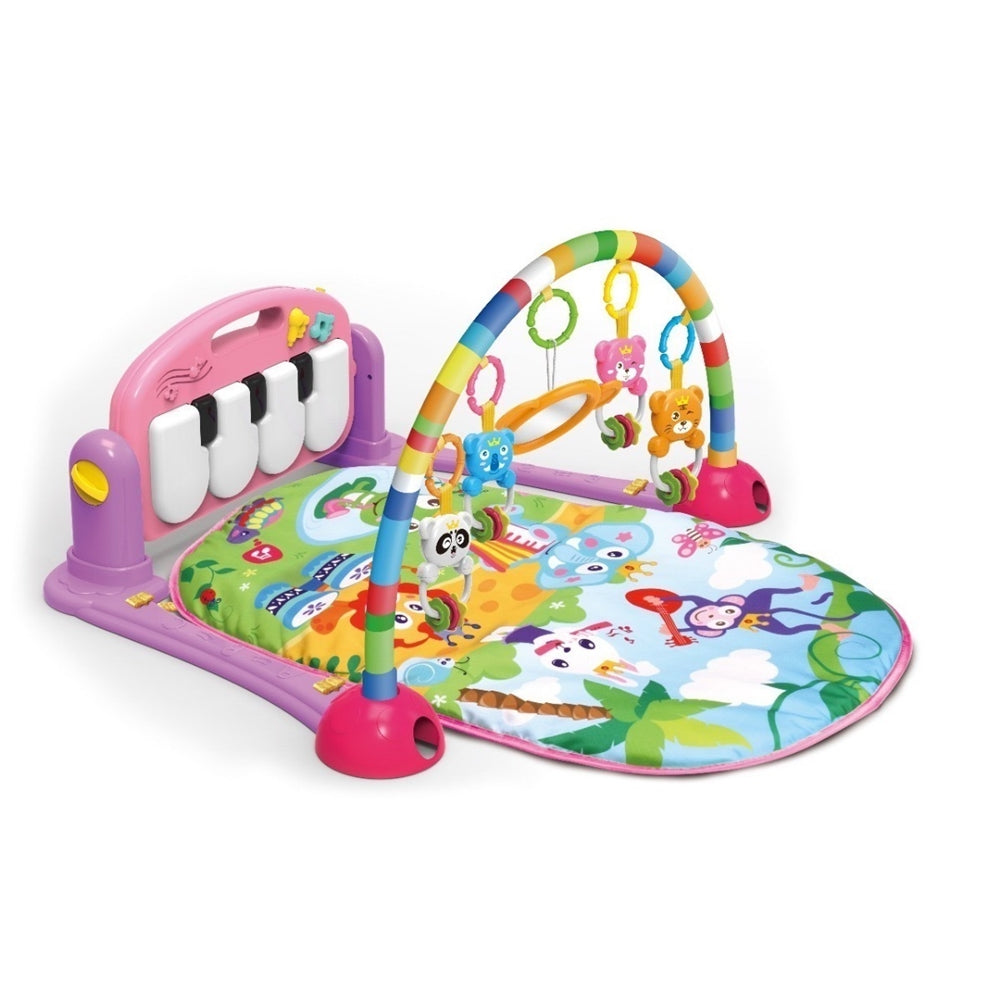 Baby Piano Fitness Rack Play Gym - Pink