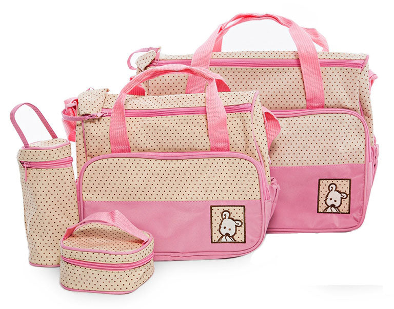 Multi Function Baby Bag Set - Pink