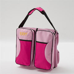 2-in-1 Baby Travel Bag - Pink