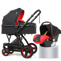 Belecoo X6 Oxford Baby Stroller - Red