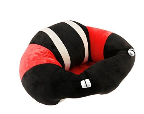 Baby Plush Chair - Black/Red