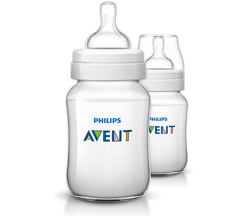 Avent - Twin Pack Feeding Bottle Classic +  260ml