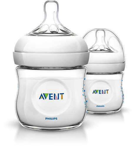 Avent - Twin Pack Natural Feeding Newborn Bottle - 125ml