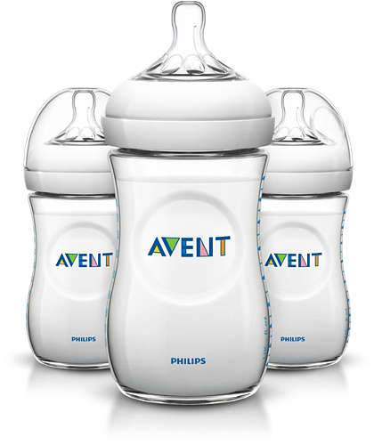 Avent - Triple Pack Natural Feeding Bottle - 260ml