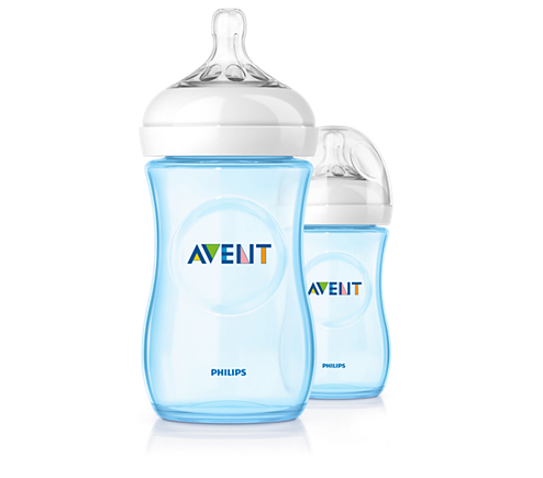 Avent - Twin Pack Natural Feeding Bottle/Blue - 260ml