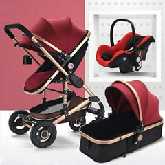 Belecoo Luxury Stroller - Tyrant - Red Wine Colour