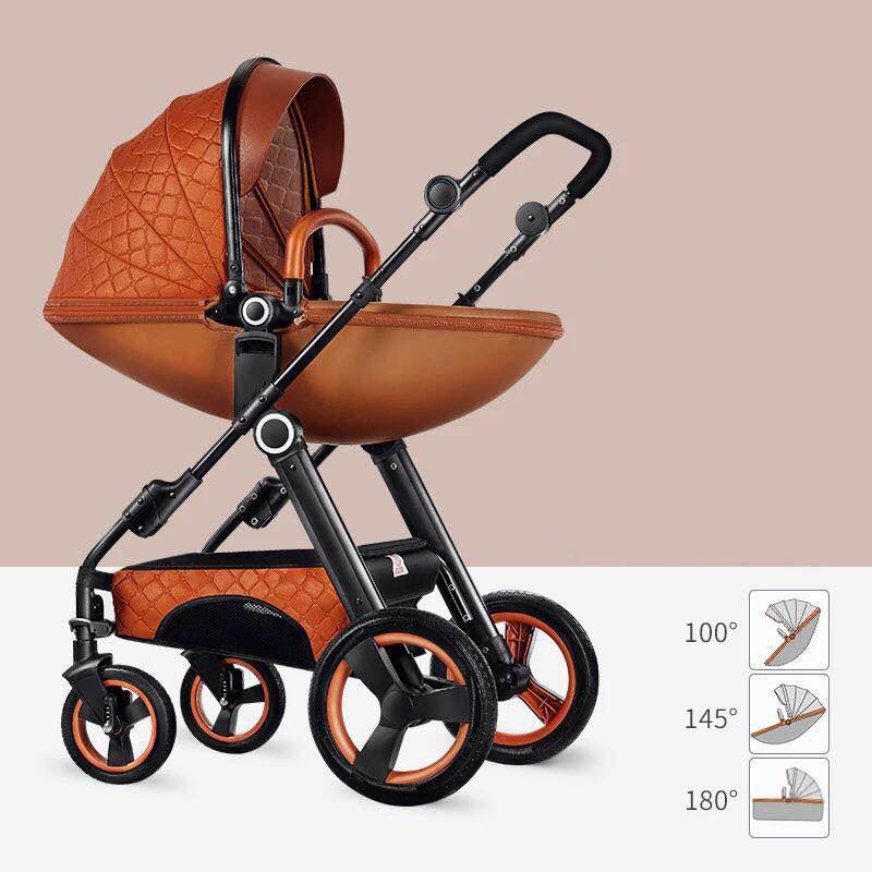 Belecoo Luxury  2-in-1 Eggshell Travel System - Gold
