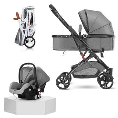 My Mom And Me Luxury Stroller - Grey