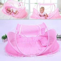 Baby Sleeping Tent In Pink With Mosquito Net