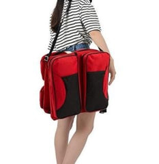 2-in-1 Baby Travel Bag - Red & Blue