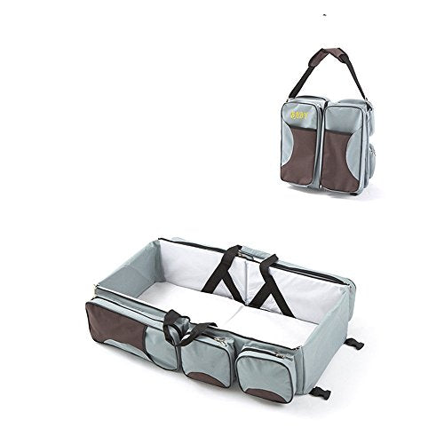 2-in-1 Baby Travel Bag - Grey