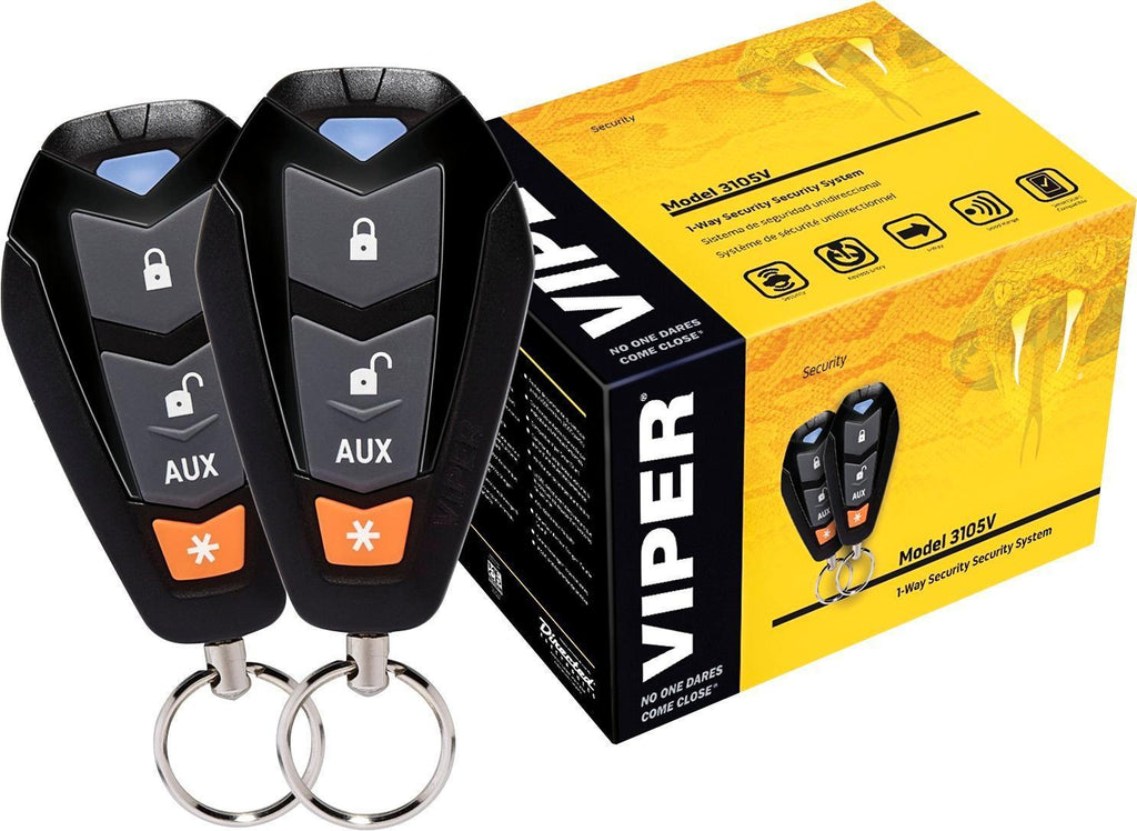 3105V Viper 350 PLUS - 1-Way Security SYS W/4-Button Remotes, Control Center